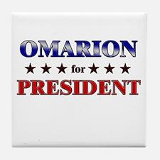 OMARION for president Tile Coaster