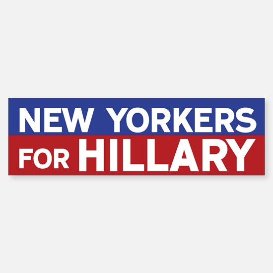 New Yorkers for Hillary Bumper Car Car Sticker