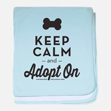 Keep Calm and Adopt On baby blanket