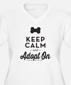 Keep Calm and Adopt On Plus Size T-Shirt
