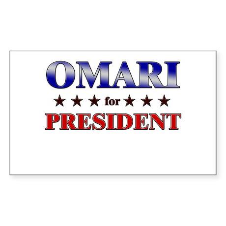 OMARI for president Rectangle Sticker