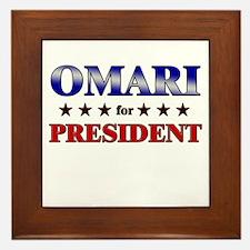 OMARI for president Framed Tile