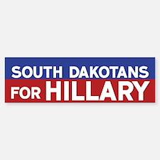 South Dakotans for Hillary Bumper Bumper Bumper Sticker