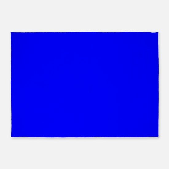 Simply Blue Solid Color 5'x7'Area Rug
