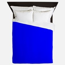 Simply Blue Solid Color Queen Duvet