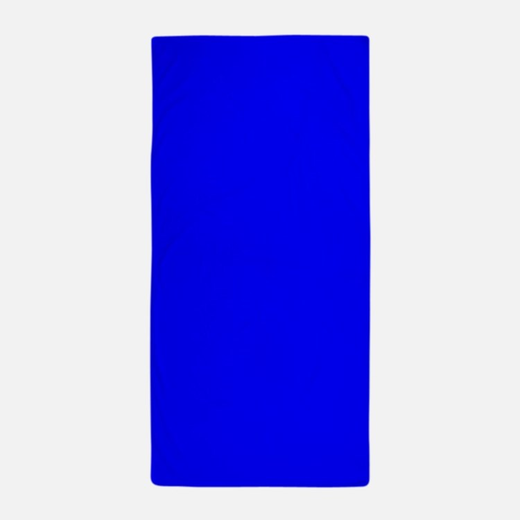 Simply Blue Solid Color Beach Towel