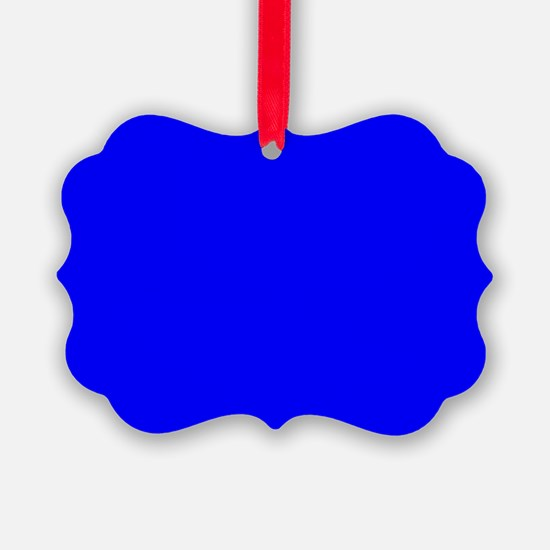Simply Blue Solid Color Ornament