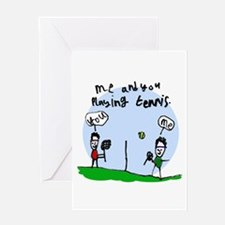 Tennis Greeting Card