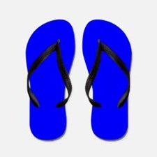 Simply Blue Solid Color Flip Flops