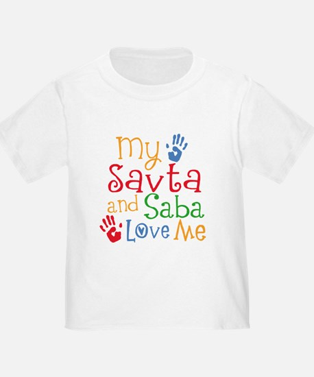 Savta and Saba Love Me T-Shirt