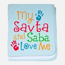 Savta and Saba Love Me baby blanket