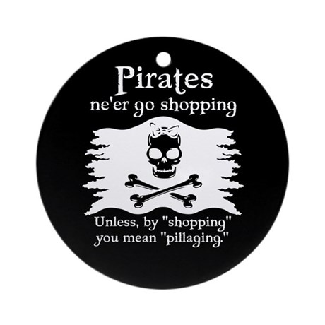 Pirates on Shopping Ornament (Round)