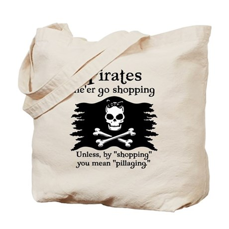 Pirates on Shopping Tote Bag