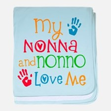 Nonna and Nonno Love Me baby blanket