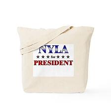 NYLA for president Tote Bag