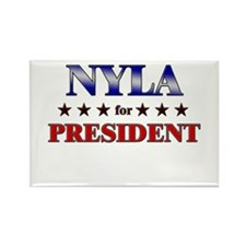 NYLA for president Rectangle Magnet