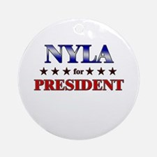 NYLA for president Ornament (Round)