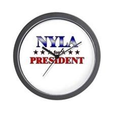 NYLA for president Wall Clock