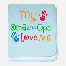 Oma and Opa Love Me baby blanket