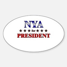 NYA for president Oval Decal