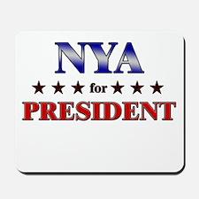 NYA for president Mousepad