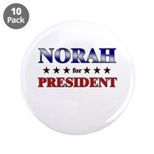 "NORAH for president 3.5"" Button (10 pack)"