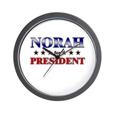 NORAH for president Wall Clock