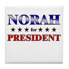 NORAH for president Tile Coaster