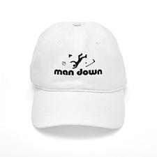 man down hockey Baseball Cap