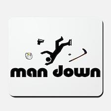 man down hockey Mousepad