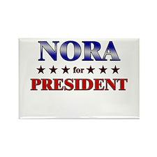 NORA for president Rectangle Magnet