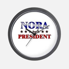NORA for president Wall Clock