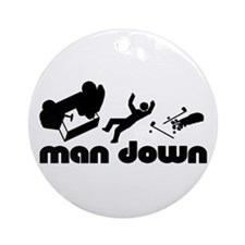 man down golfer Ornament (Round)