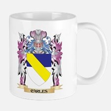 Carles Coat of Arms (Family Crest) Mugs