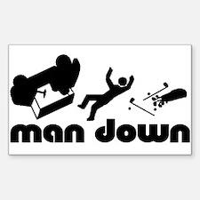 man down golfer Rectangle Decal