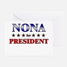 NONA for president Greeting Cards (Pk of 10)