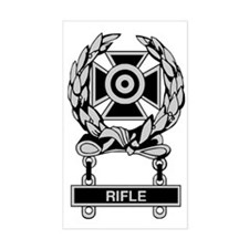 Army Rifle Expert Badge Rectangle Decal