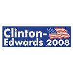 Clinton-Edwards Bumper Sticker
