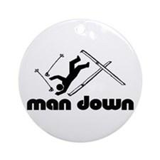 man down skier Ornament (Round)