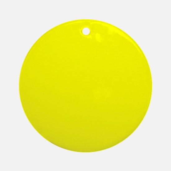 Simply Yellow Solid Color Round Ornament