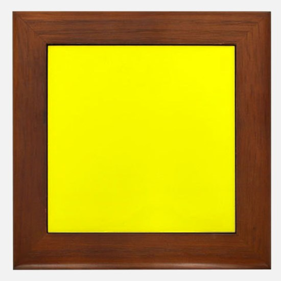 Simply Yellow Solid Color Framed Tile