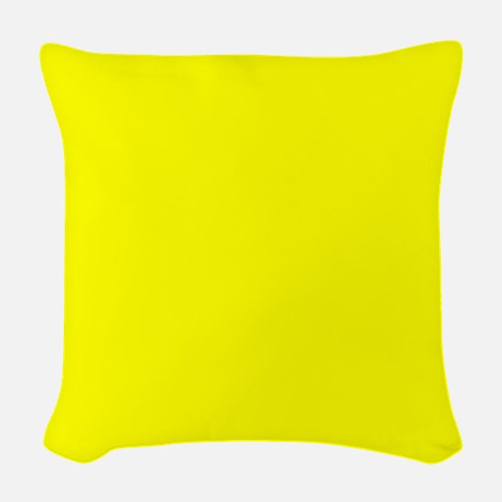 Simply Yellow Solid Color Woven Throw Pillow