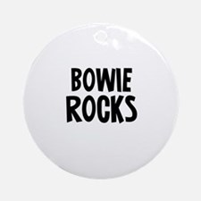 Bowie Rocks Ornament (Round)