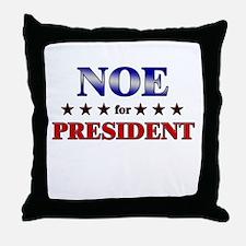 NOE for president Throw Pillow