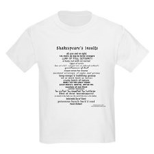 Shakespeare's Insults - Black T-Shirt