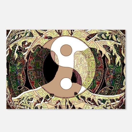 Yin Yang Mandala Postcards (Package of 8)