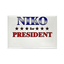 NIKO for president Rectangle Magnet
