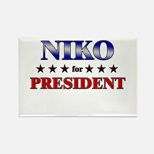 NIKO for president Rectangle Magnet