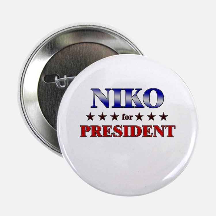 """NIKO for president 2.25"""" Button"""