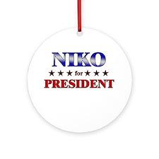 NIKO for president Ornament (Round)